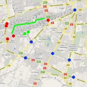 Mapa ewakuacji - Warszawa Ochota