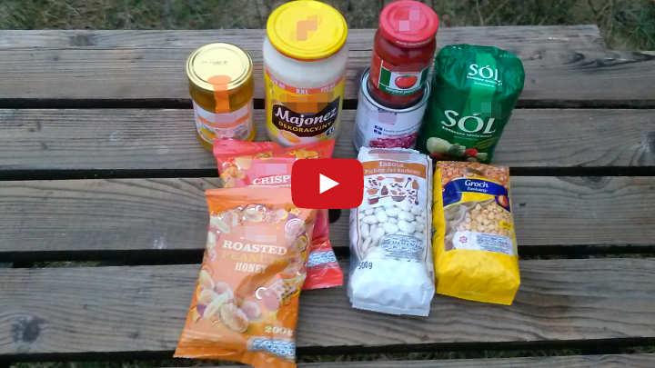 majonez koncentrat sól fasola orzeszki miód żywność zapas 720