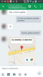 google hangouts lokalizacja