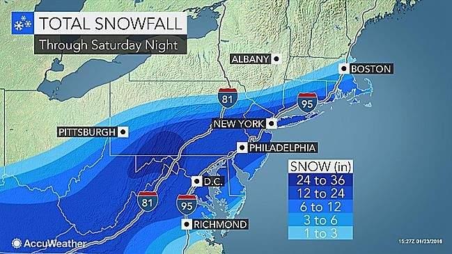śnieżyca jonas burza śnieżna blizzard usa 2016