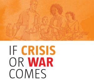 """Strona tytułowa szwedzkiej broszury """"Jeśli nadejdzie kryzys lub wojna"""" w wersji anglojęzycznej."""