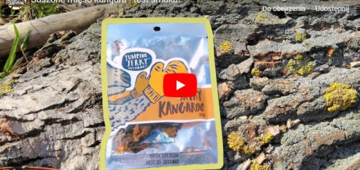 suszone mięso kangura - test smaku - opakowanie