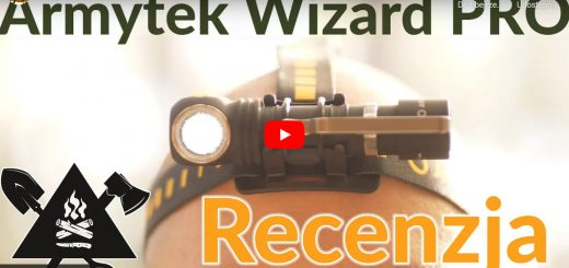 Recenzja Armytek Wizard PRO - latarka samontowana na głowie modela